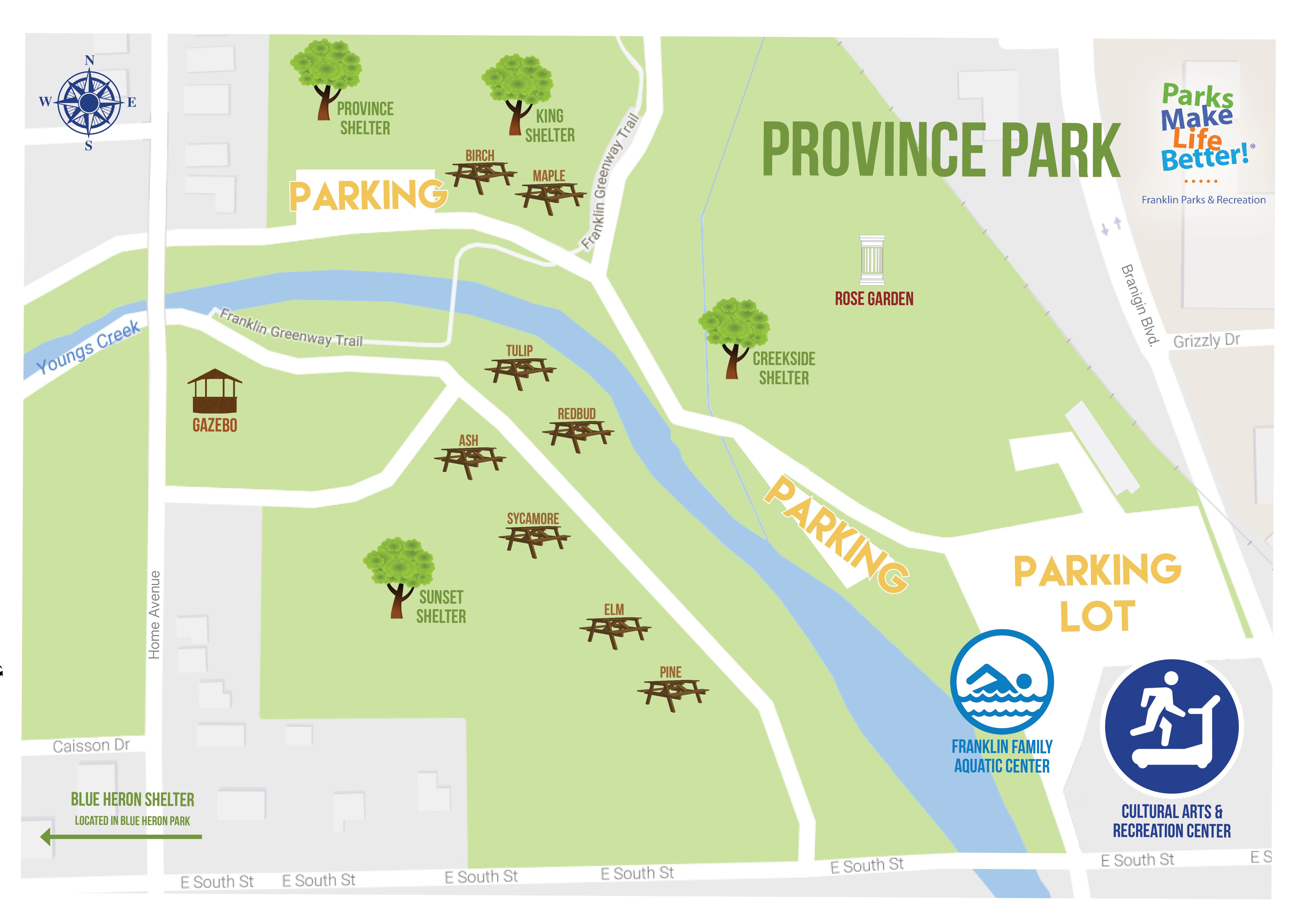 Province Park Map (Shelters)